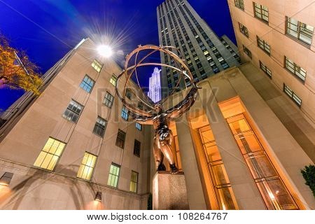 Atlas Statue - Rockefeller Center, New York City