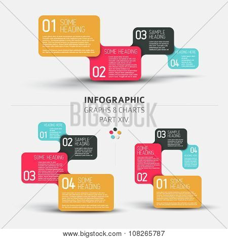 Vector flat design infographic elements (diagrams with rectangles) - 14. part of my infographic bundle