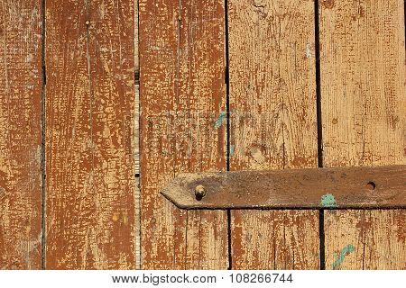 Fragment Of Ancient Wooden Door