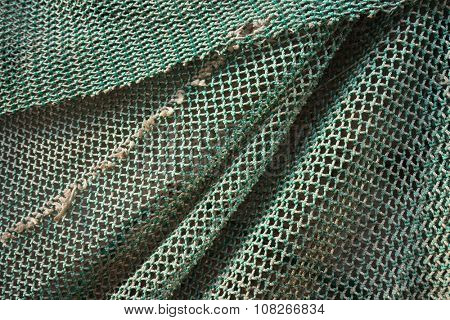 Fishing net texture.