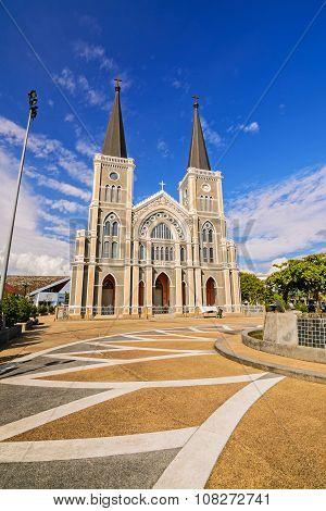 CHANTABURI THAILAND - 29 july 2015 : Old catholic church of Maephra Patisonti Niramon located in Cha