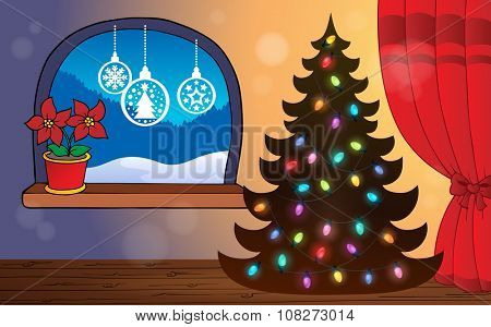 Christmas indoor topic 4 - eps10 vector illustration.