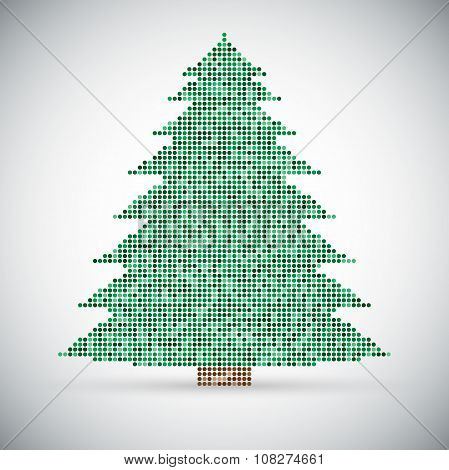 Vector abstract background. Christmas and New Year. Mosaic, sequins, glitter, sparkle.
