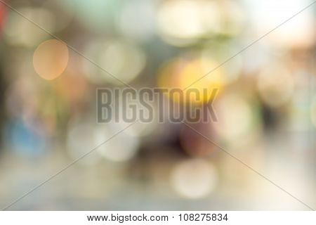 Blurred Background Of Shopping Center