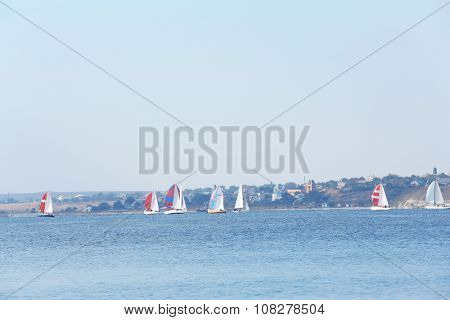 Sailing yachts regatta