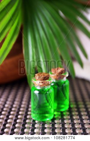 Essential oil for aromatherapy, close up
