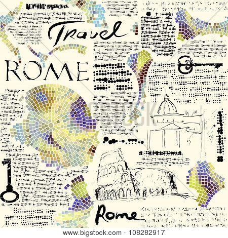 Rome newspaper background