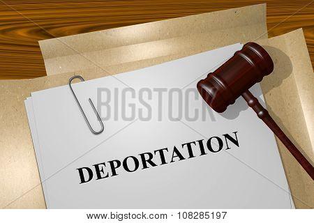 Deportation Concept