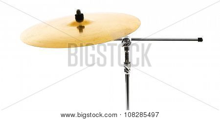 Golden drum isolated on white background