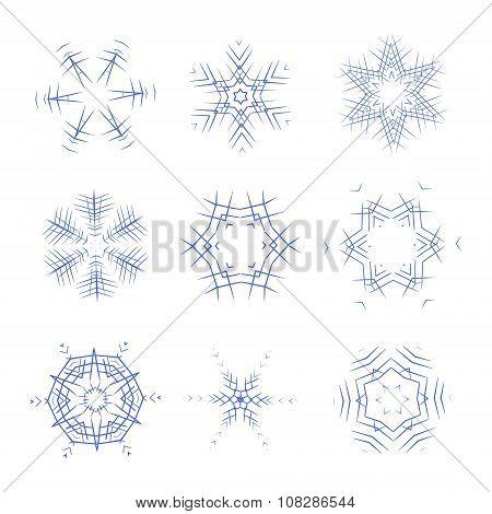 Vector snoflakes set