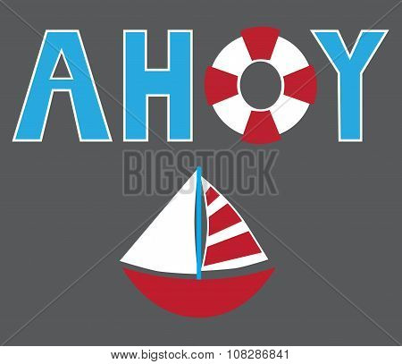 Ahoy Sailboat