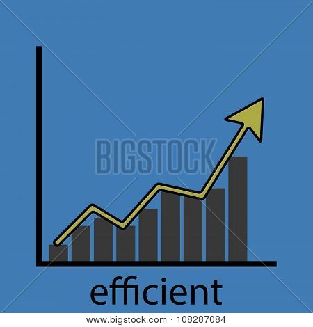 Rising efficiency graph icon