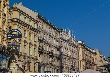 Buildings Along The Graben In Vienna