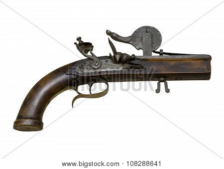 The Old Gun Powder Tester On The White Background,