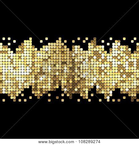 Background Of Gold Sparkles