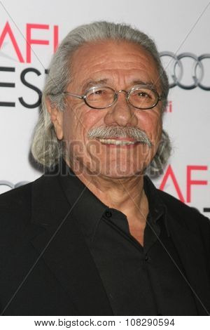 LOS ANGELES - NOV 12:  Edward James Olmos at the AFI Fest 2015 - Presented by Audi - The Big Short Gala Screening at the TCL Chinese Theater on November 12, 2015 in Los Angeles, CA