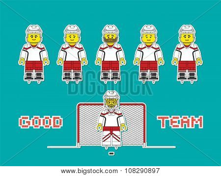 Hockey Team Constructor Style