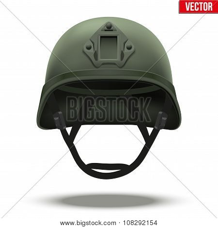 Military tactical helmet green color