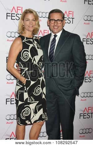 LOS ANGELES - NOV 12:  Nancy Carell, Steve Carell at the AFI Fest 2015 - Presented by Audi - The Big Short Gala Screening at the TCL Chinese Theater on November 12, 2015 in Los Angeles, CA