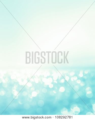 Abstract Blur Light On The Sea And Ocean Background For Summer Season
