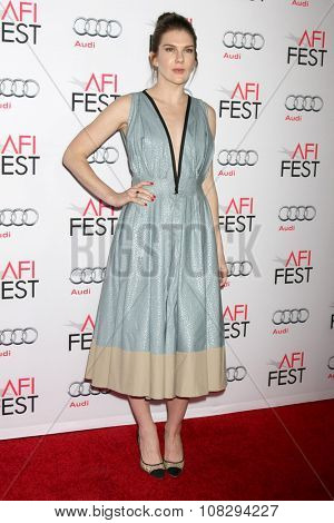LOS ANGELES - NOV 12:  Lily Rabe at the AFI Fest 2015 - Presented by Audi - The Big Short Gala Screening at the TCL Chinese Theater on November 12, 2015 in Los Angeles, CA