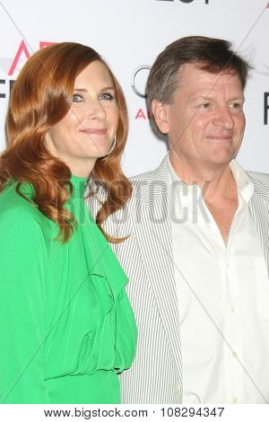 LOS ANGELES - NOV 12:  Tabitha Soren, Michael Lewis at the AFI Fest 2015 - Presented by Audi - The Big Short Gala Screening at the TCL Chinese Theater on November 12, 2015 in Los Angeles, CA