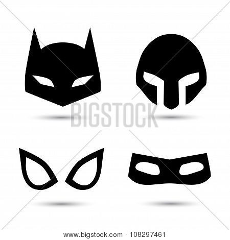 Super hero vector icons set