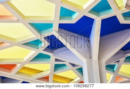 Futuristic Colorful Geometric Ceiling
