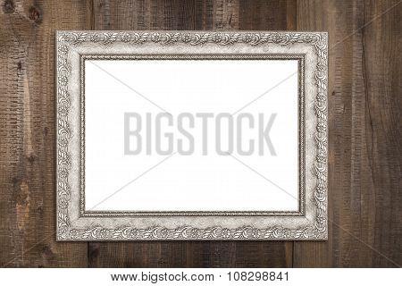 Empty Horizontal Silver Frame