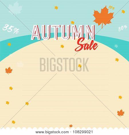 autumn sales business poster