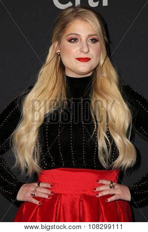 LOS ANGELES - NOV 14:  Meghan Trainor at the The Grove Christmas with Seth MacFarlane 2015 at the The Grove on November 14, 2015 in Los Angeles, CA