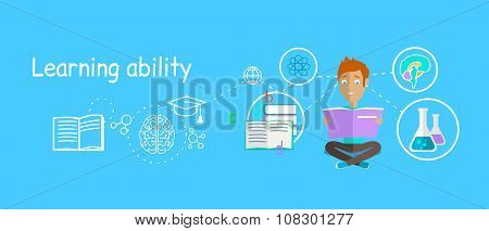 Man Learning Ability Concept Design