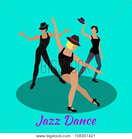 Jazz Dance Concept Flat Design