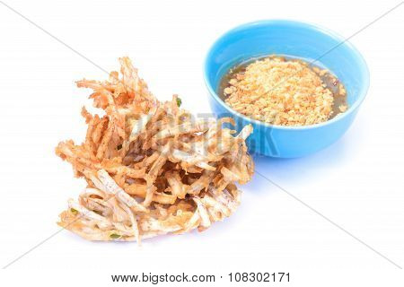 Fried Taro Chips And Sauce, Appetizer, Vegetarian Festival