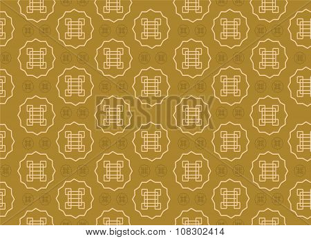Abstract chinese or asia seamless pattern background vector design