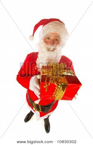 Santa Claus With Present For You