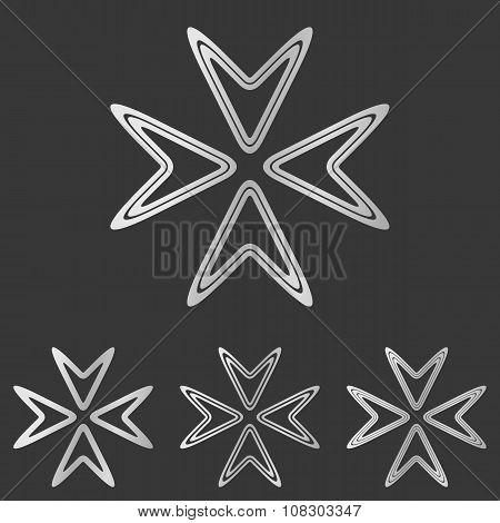 Silver line company logo design set