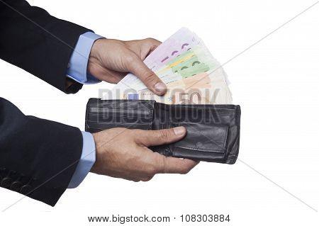 Holding Open Wallet