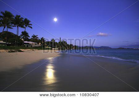 full moon at daybreak