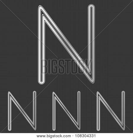 Silver line n logo design set