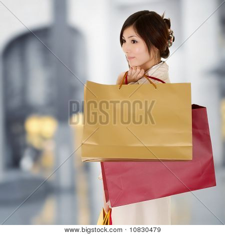 Modern Woman Shopping