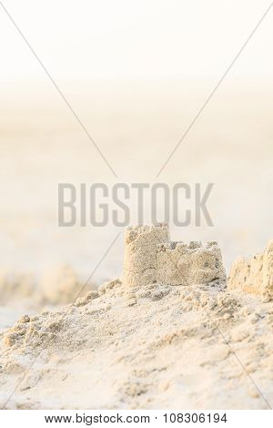 Sand Castle at Evening Light