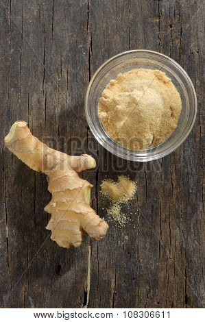 Ginger Fresh Root And Ginger Spice