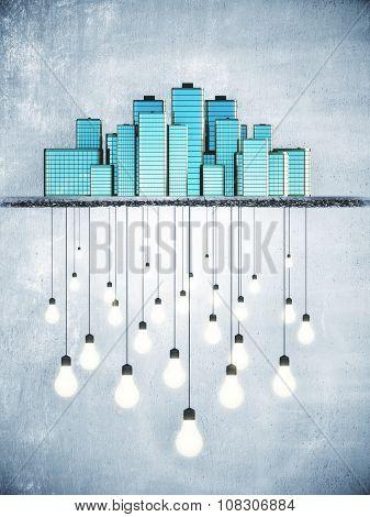 Lots Of Ideas In Big City, Idea Concept