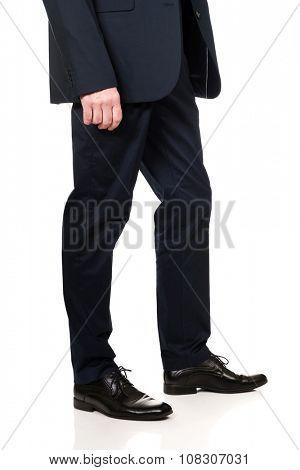 Mature businessmen in smart clothes.
