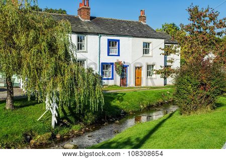 Caldbeck village in Cumbria, England