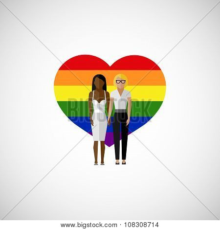gay marriage vector flat illustration.