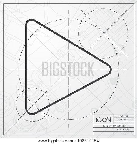 Vector play icon