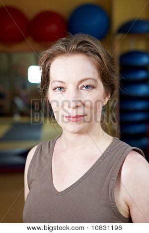 Female Portrait In Gym