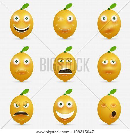Design inspiration with cartoon lemon